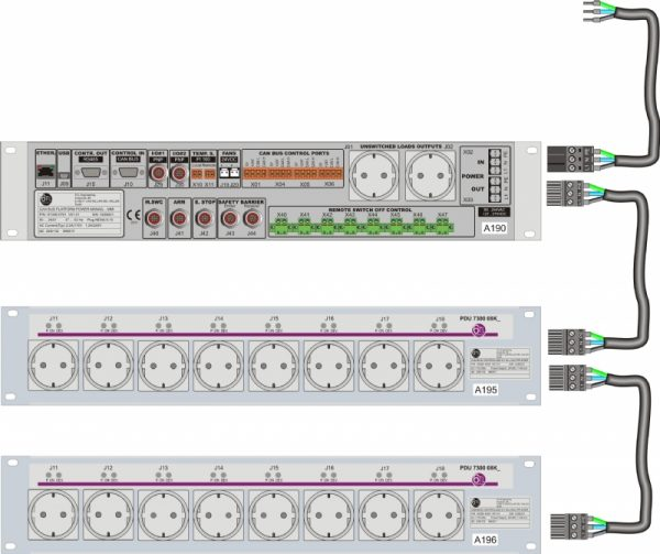 Connection between MMI and Power Distributed Modules